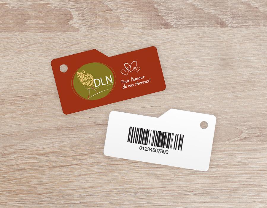 custom barcode key tags