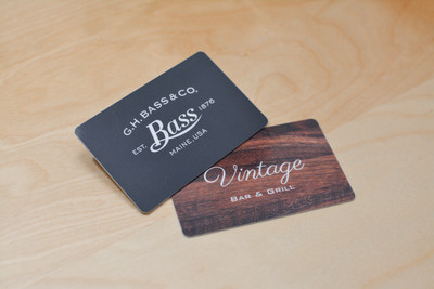 Two vintage-inspired designs for a clothing store and a restaurant