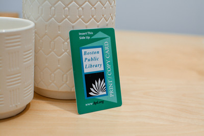A vertical design for a plastic library card