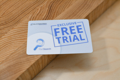 A free trial card used by an internet search company