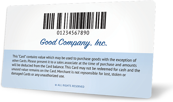 Gift Card With Barcode