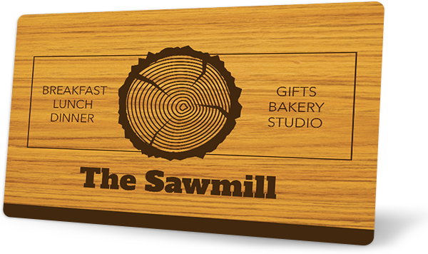 Custom Wood Gift Card Example