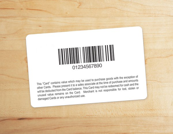 Barcode Gift Cards