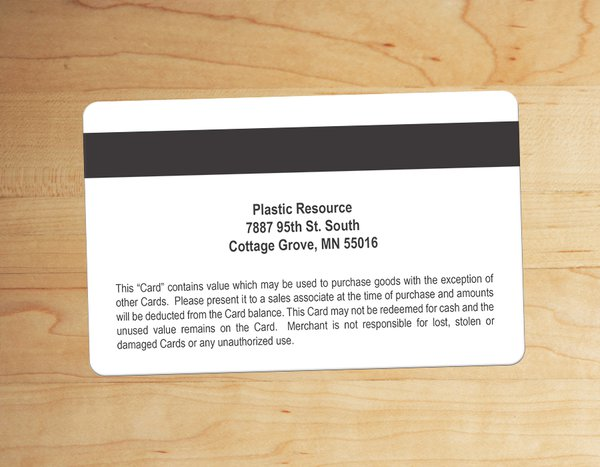 Custom Magnetic Stripe Cards