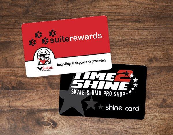 Custom Plastic Rewards Cards