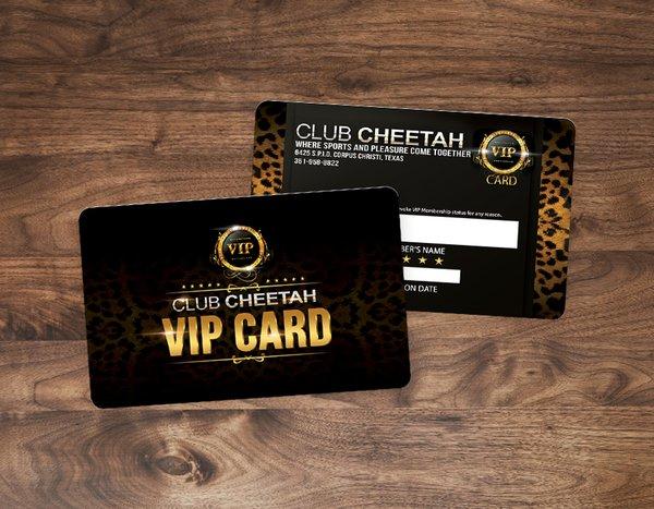 Custom Plastic VIP Cards